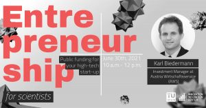 #E4s - Public funding for your high-tech start-up @ Online